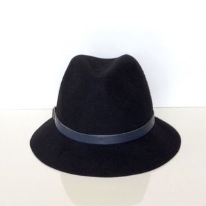 "Eugenia Kim ""Jordan"" Black Wool Fedora Hat"